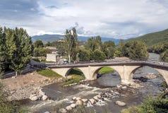 Brücke im riiver Segre Lizenzfreie Stockfotos