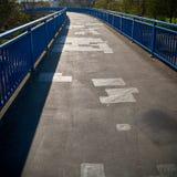 Brücke im Stadtzentrum von Magdeburg Lizenzfreie Stockfotos