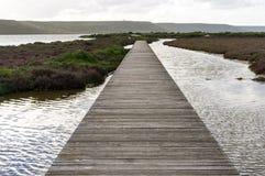 Brücke im Teich Stockbild
