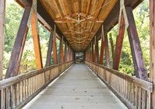 Brücke im Wald Lizenzfreie Stockfotografie
