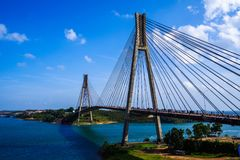 Brücke in Indonesien Stockfotografie