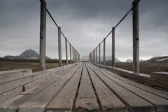 Brücke in Island lizenzfreie stockfotos