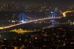 Brücke Istanbul-Bosphorus vom Camlica Hügel Stockbilder
