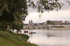 Brücke Jacques-Anzha Gabriel in Blois Lizenzfreies Stockfoto