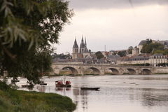 Brücke Jacques-Anzha Gabriel in Blois Stockfoto
