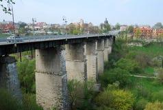 Brücke, Kamianets-Podilskyi, Ukraine Lizenzfreie Stockbilder