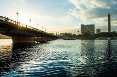 Brücke kasr EL Nil stockfotografie