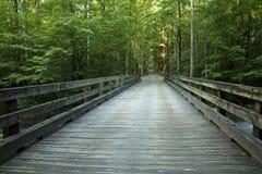 Brücke, kleiner Taube-Fluss, Greenbrier, GSMNP Lizenzfreie Stockfotos