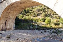 Brücke in Lagrasse Stockfotografie