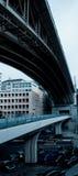 Brücke in Lausanne Stockbild