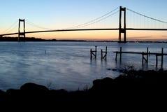 Brücke am lillebaelt Dänemark Lizenzfreies Stockfoto