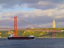 Brücke in Lissabon Stockfotografie