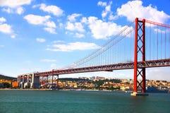Brücke in Lissabon, Portugal Lizenzfreie Stockfotos