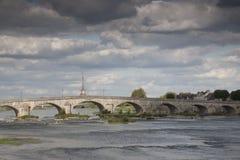 Brücke, Loire-Fluss, Blois Lizenzfreies Stockfoto