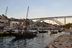 Brücke Luis I, Porto, Portugal Stockbilder