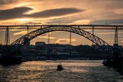 Brücke Luiz I, Oporto, Portugal Stockbilder