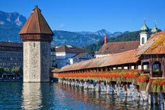 Brücke in Luzerne Stockbild