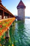 Brücke in Luzerne die Schweiz Lizenzfreie Stockfotografie
