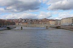 Brücke Marechal Juin in Lyon, Frankreich Lizenzfreie Stockbilder