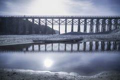 Brücke an Mendocino-Küste Stockfotografie