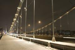 Brücke mit Ablichtung lizenzfreie stockfotos