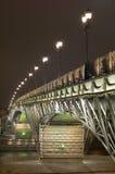 Brücke mit Ablichtung lizenzfreie stockbilder