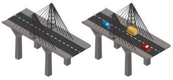 Brücke mit Autos und außen vektor abbildung