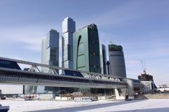 Brücke in Moskau Stockbild