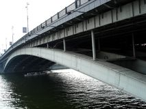 Brücke Moskau Bolshoy Ustinsky Lizenzfreies Stockbild