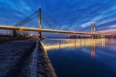 Brücke nachts Lizenzfreies Stockbild