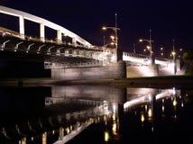 Brücke nachts Lizenzfreies Stockfoto