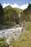 Brücke in Nepal Lizenzfreies Stockbild