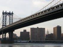 Brücke in New York City Stockbild