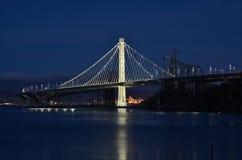 Brücke Oakland-San Francisco Bay lizenzfreies stockbild
