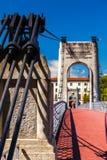Brücke Old Passerelle du College über der Rhone in Lyon, Franken Lizenzfreie Stockfotografie