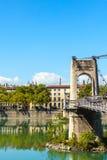 Brücke Old Passerelle du College über der Rhone in Lyon, Franken Stockbild