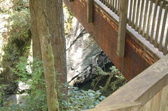 Brücke ove Snoqualmie-Fälle Lizenzfreie Stockfotos
