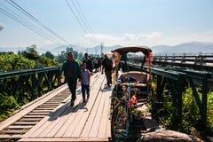 Brücke in pai Fluss Stockfotografie