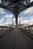 Brücke Ponte Luiz I in Porto Stockbild