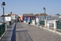 Brücke Ponte Romana in Tavira in Portugal Lizenzfreies Stockfoto