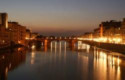 Brücke Ponte Vecchio, Florenz, Italien stockfoto