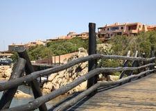 Brücke in Porto Cervo Sardegna Italien Stockbild