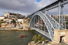 Brücke Porto, Dom Luis Lizenzfreies Stockbild