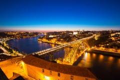 Brücke Porto Dom Luiz Stockfotos