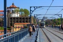Brücke in Porto, Portugal Stockbild