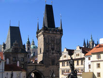 Brücke Prag-Charles Stockbild