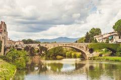 Brücke in Prato, Italien Stockbild