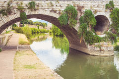 Brücke in Prato, Italien stockfotos