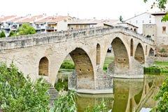 Brücke, Puente La-Reina Lizenzfreies Stockfoto