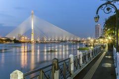 Brücke Rama 8 in Bangkok Lizenzfreie Stockfotografie